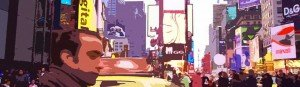 Sergio en Times Square